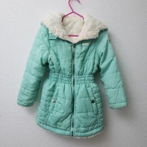 Reversible DKNY 3t Toddler Faux Fur Coat